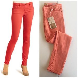 Sanctuary Denim Orange Charmer Skinny Jeans 27